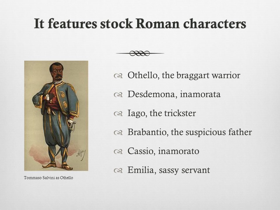 It features stock Roman characters