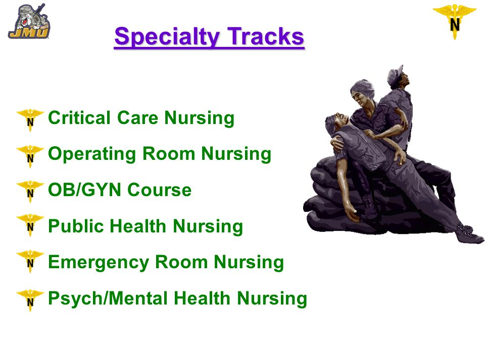 Specialty Tracks Critical Care Nursing Operating Room Nursing