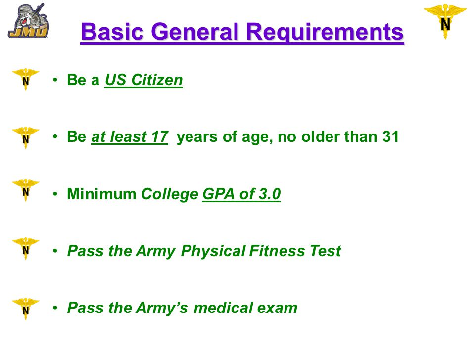 Basic General Requirements