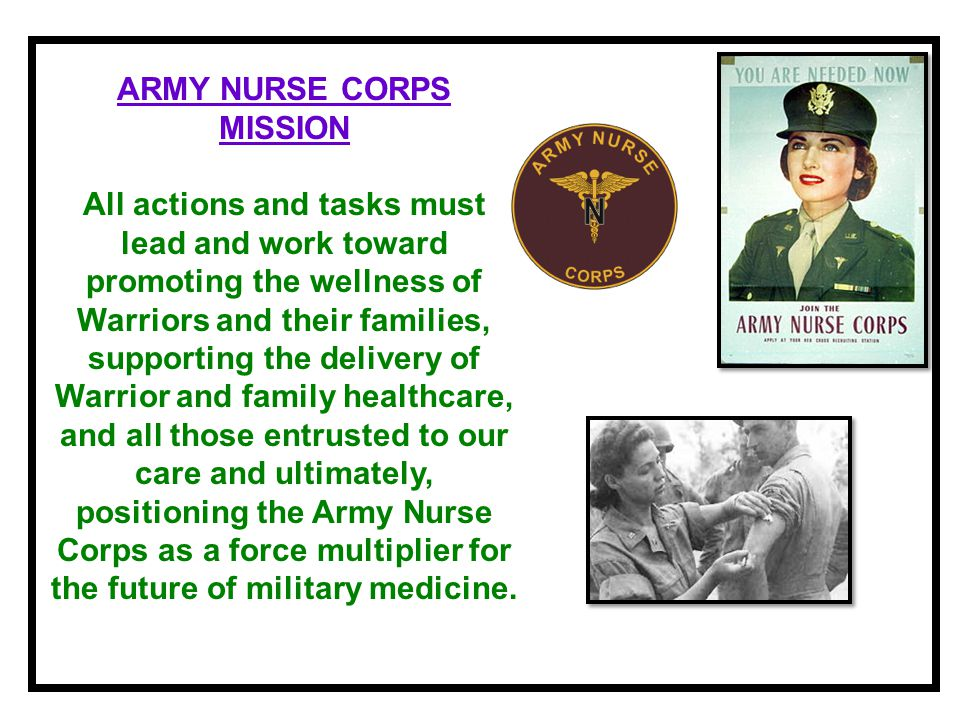 ARMY NURSE CORPS MISSION