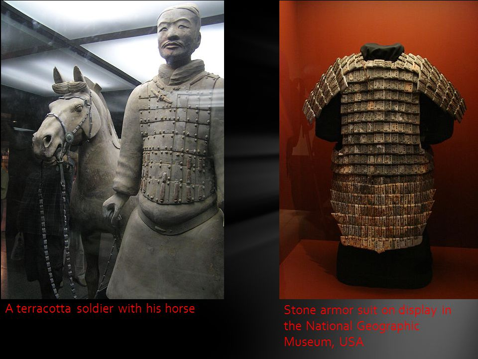A terracotta soldier with his horse