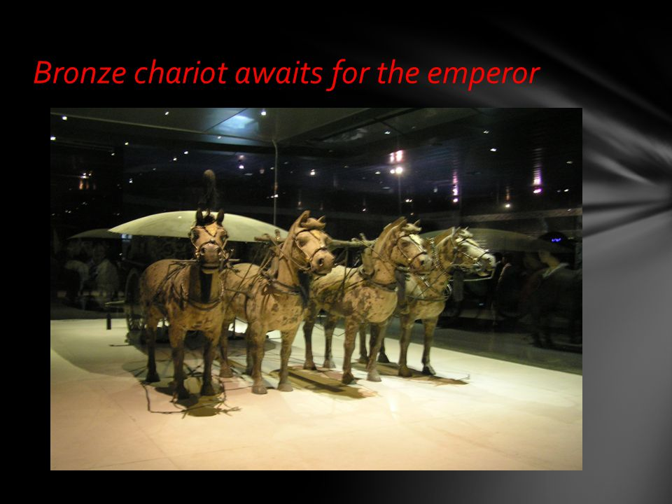 Bronze chariot awaits for the emperor