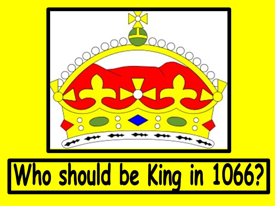 Who should be King in 1066