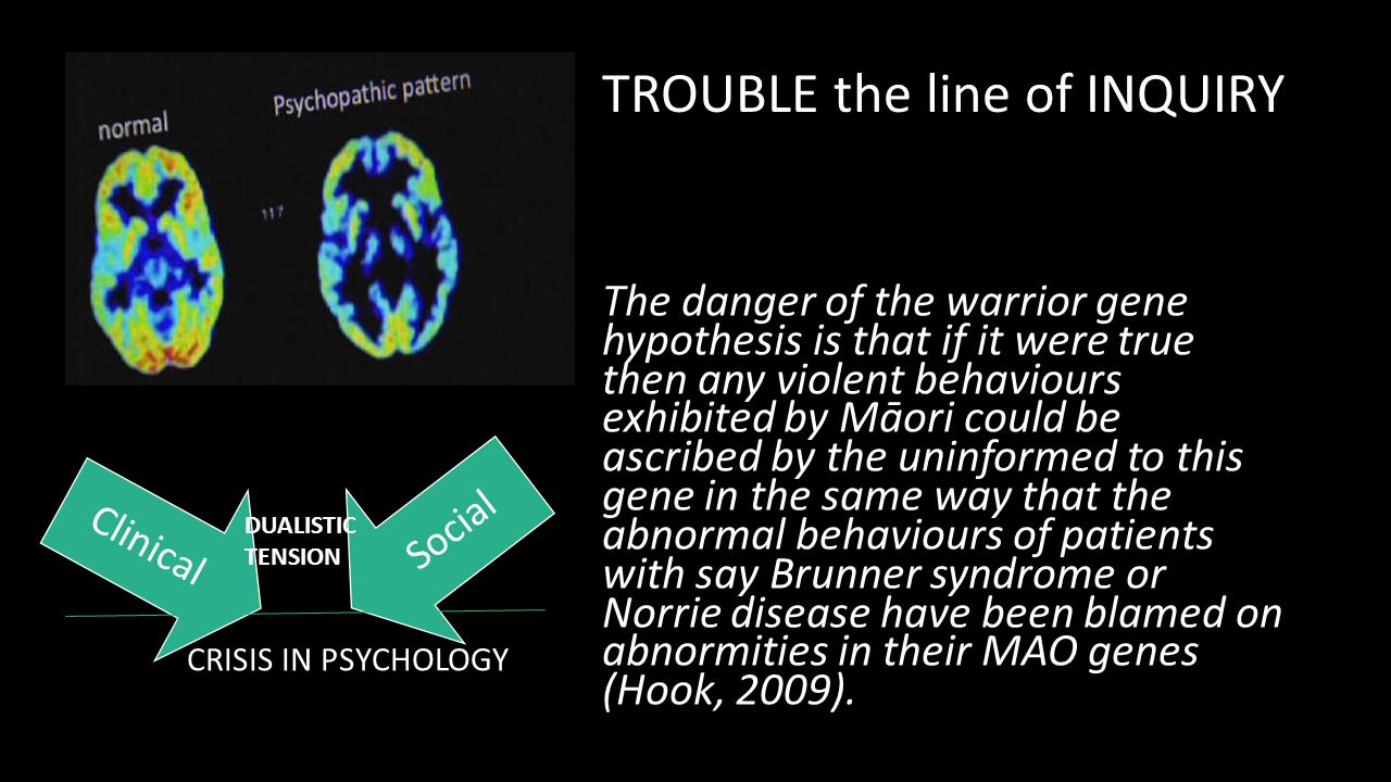TROUBLE the line of INQUIRY