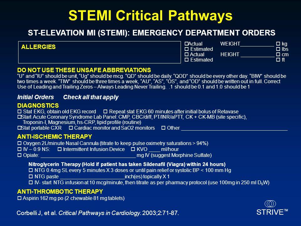 STEMI Critical Pathways