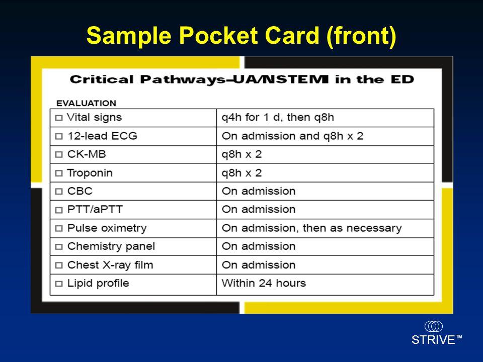 Sample Pocket Card (front)