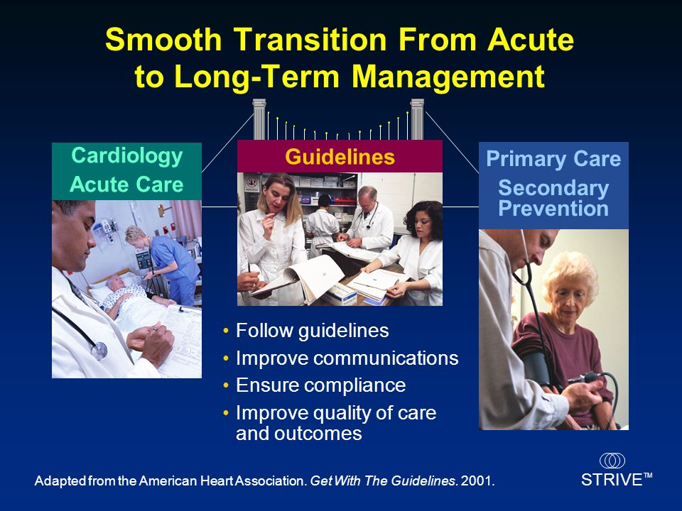 Smooth Transition From Acute to Long-Term Management