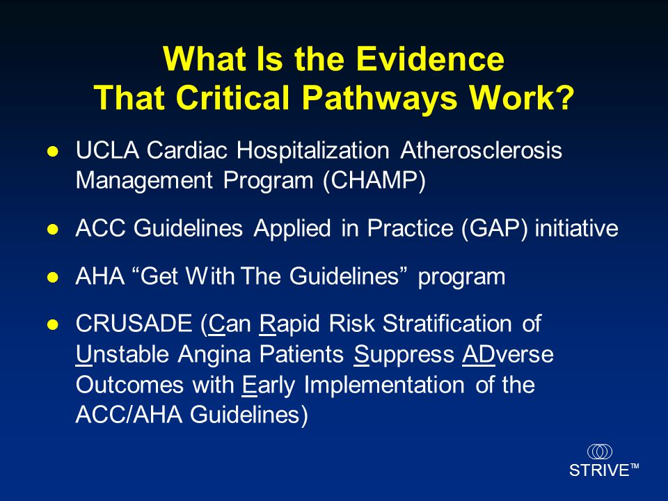 What Is the Evidence That Critical Pathways Work