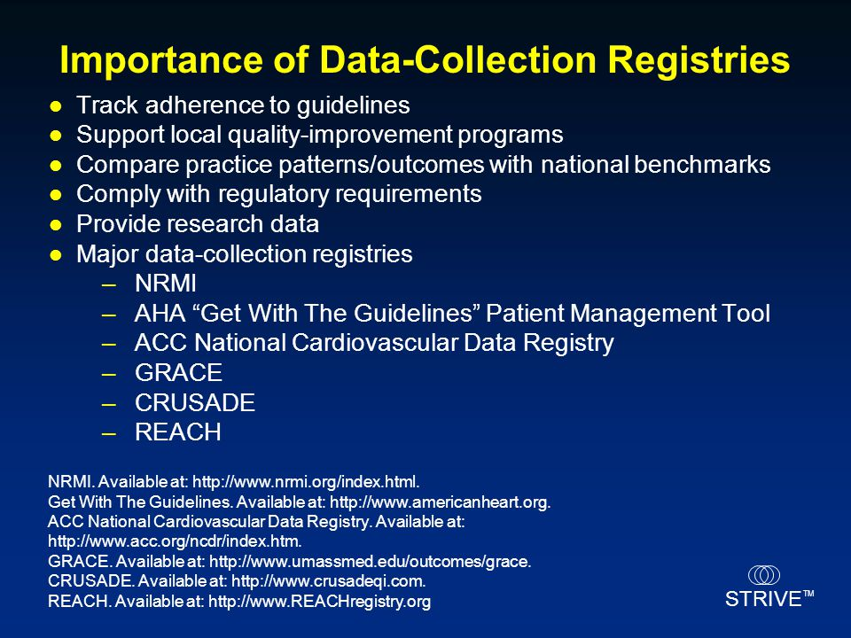 Importance of Data-Collection Registries