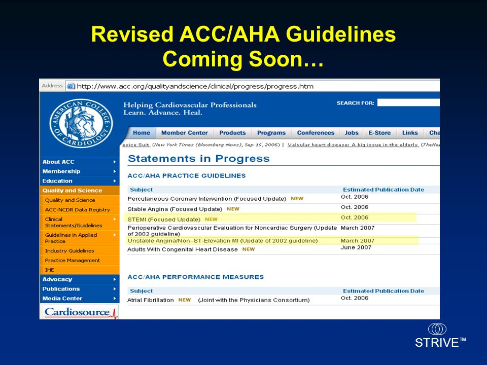 Revised ACC/AHA Guidelines Coming Soon…