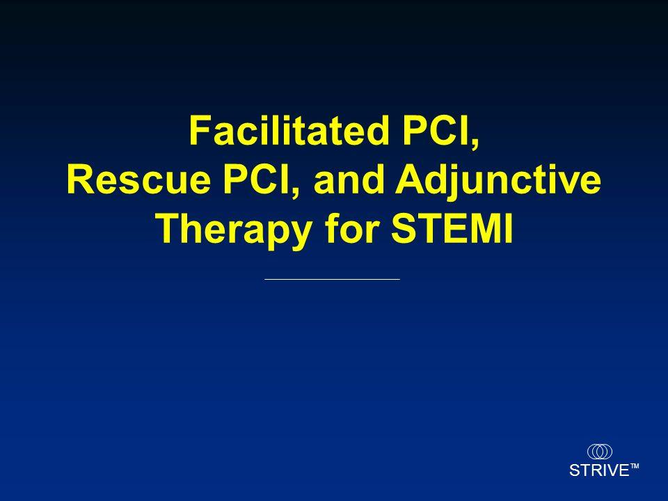 Facilitated PCI, Rescue PCI, and Adjunctive Therapy for STEMI