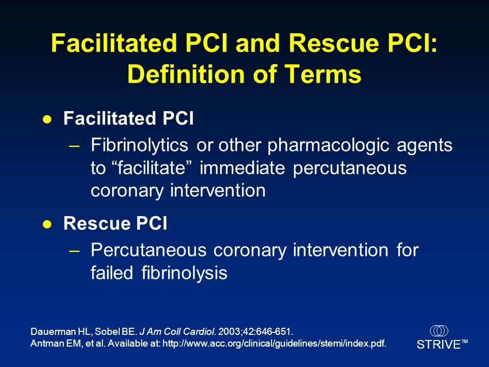 Facilitated PCI and Rescue PCI: Definition of Terms