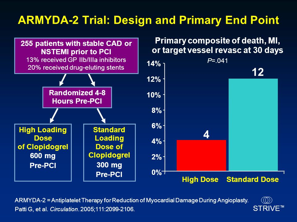 ARMYDA-2 Trial: Design and Primary End Point