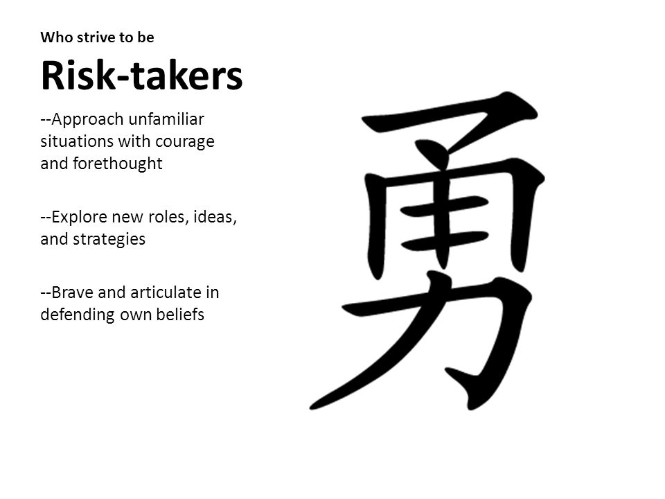 Who strive to be Risk-takers