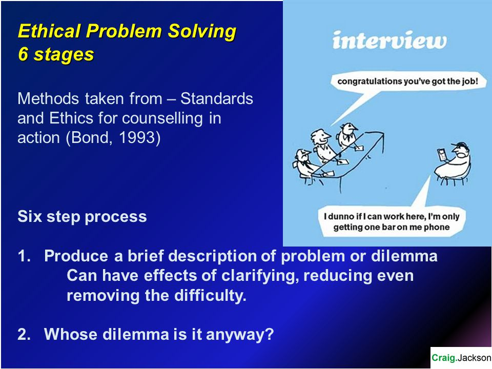 Ethical Problem Solving 6 stages