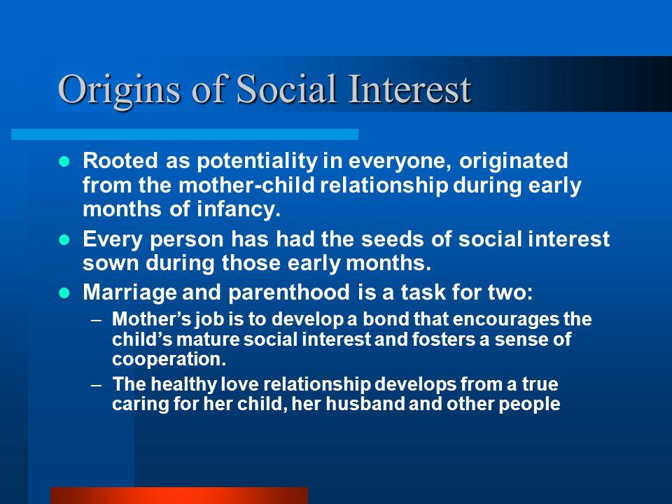 Origins of Social Interest