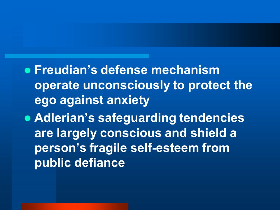 Freudian's defense mechanism operate unconsciously to protect the ego against anxiety