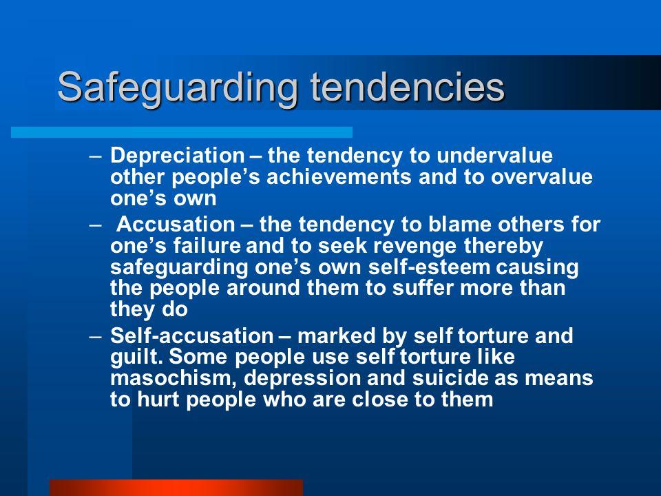 Safeguarding tendencies