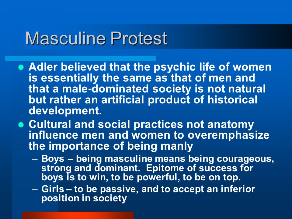Masculine Protest