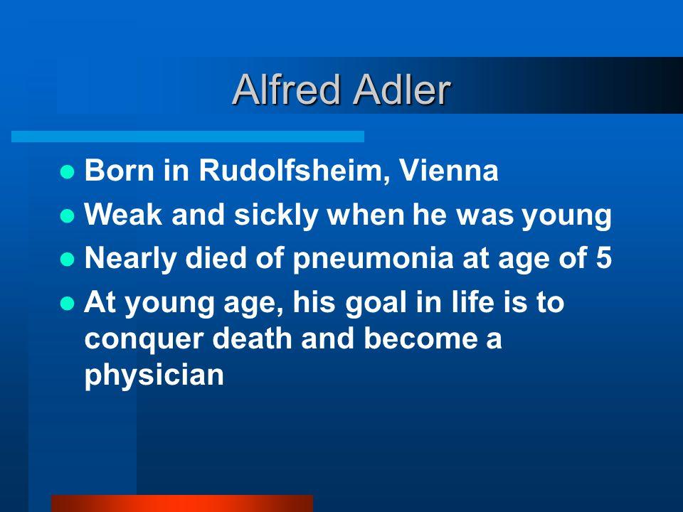 Alfred Adler Born in Rudolfsheim, Vienna