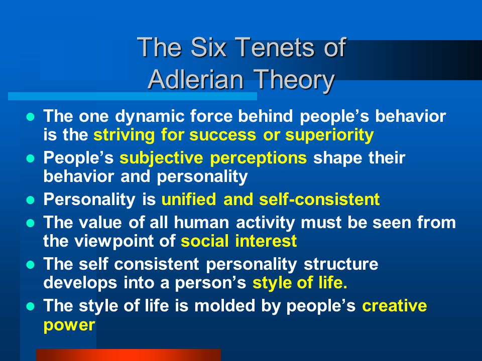 The Six Tenets of Adlerian Theory