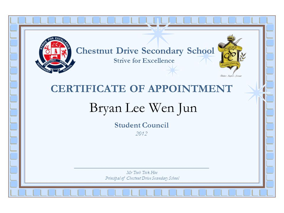 Principal of Chestnut Drive Secondary School