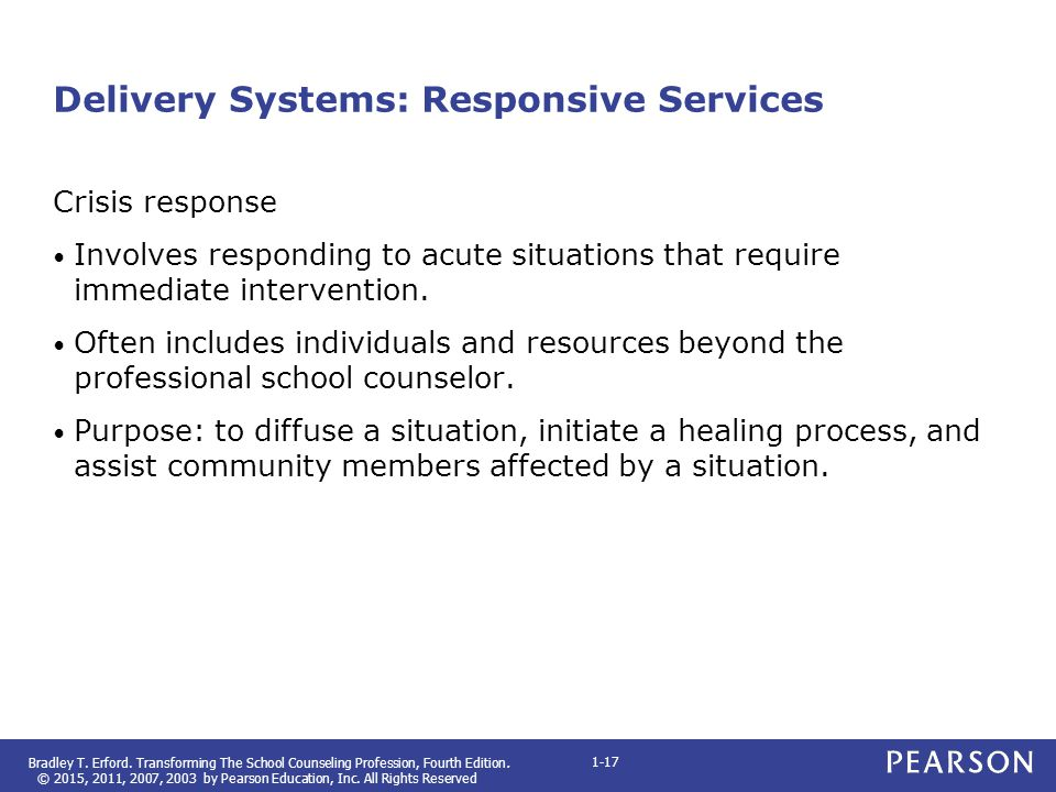 Delivery Systems: Responsive Services