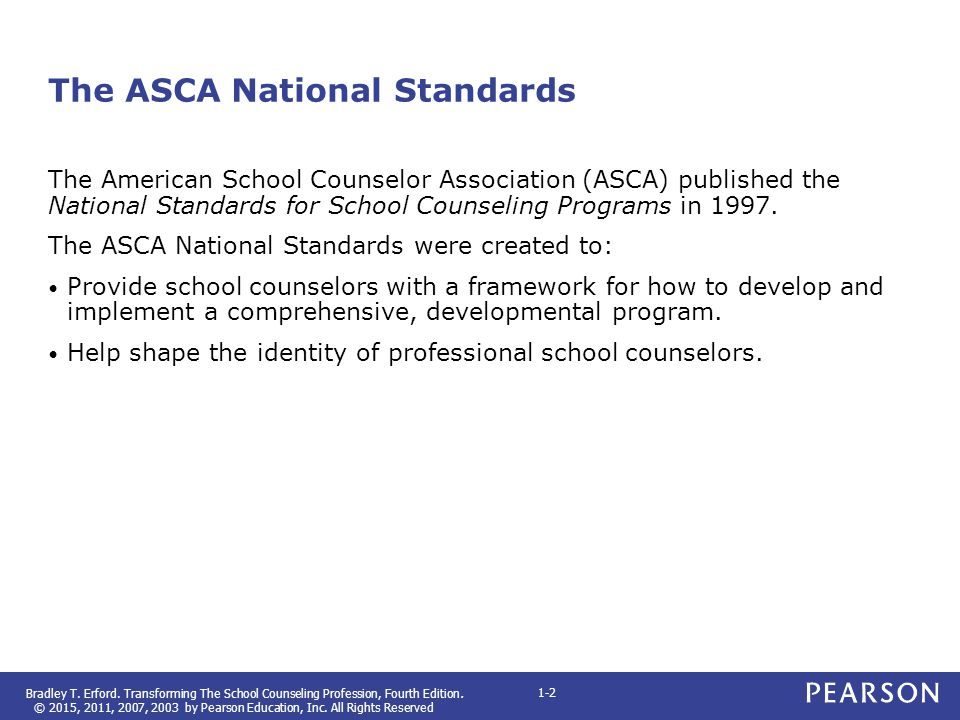 The ASCA National Standards