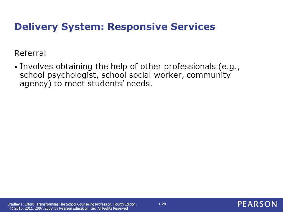 Delivery System: Responsive Services
