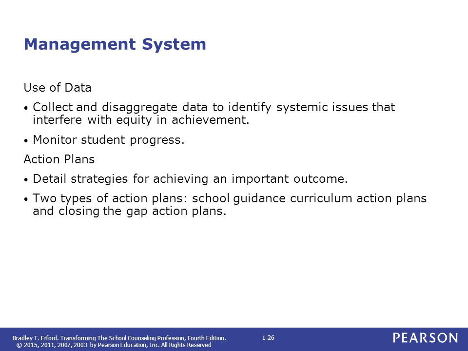 Management System Use of Data