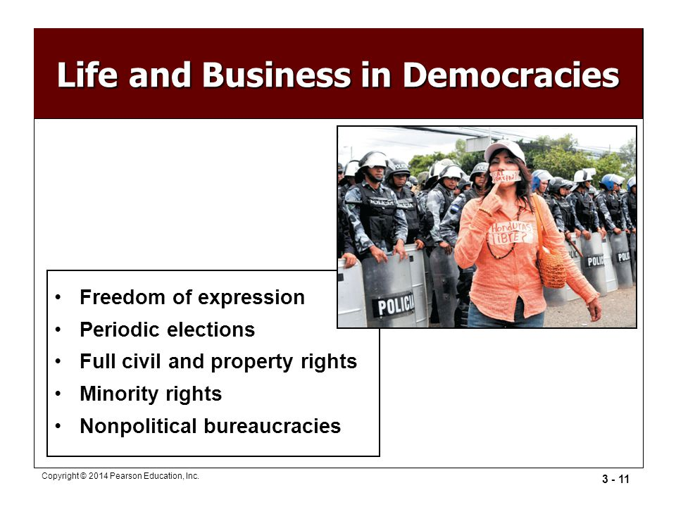 Life and Business in Democracies