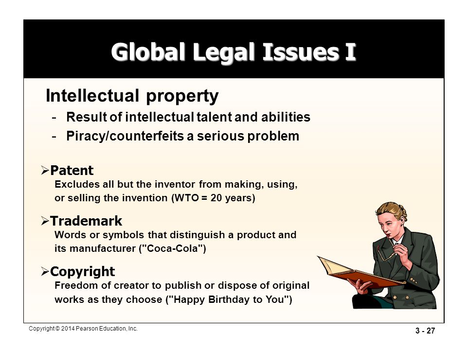 Global Legal Issues I Intellectual property
