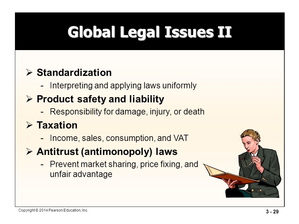 Global Legal Issues II Standardization Product safety and liability