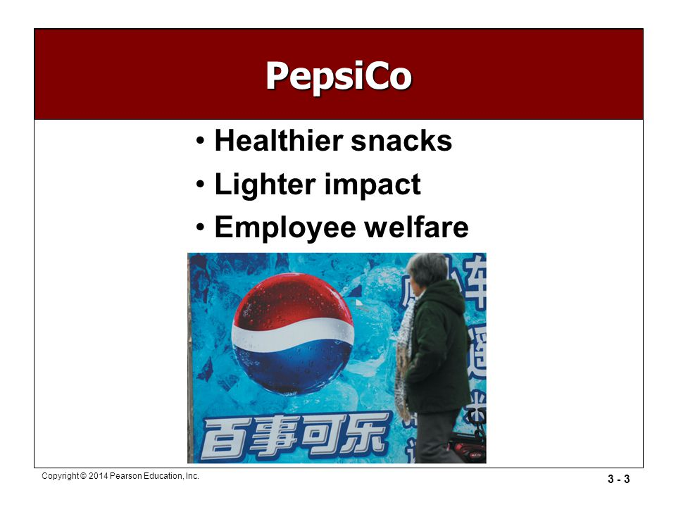 PepsiCo Healthier snacks Lighter impact Employee welfare
