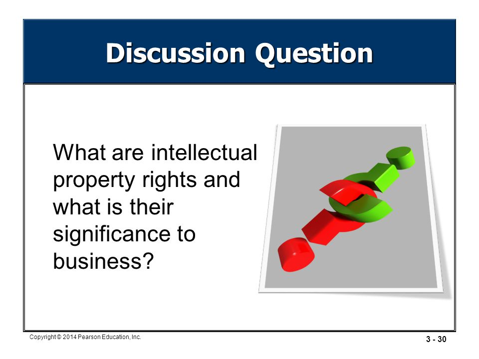 Discussion Question What are intellectual property rights and what is their significance to business