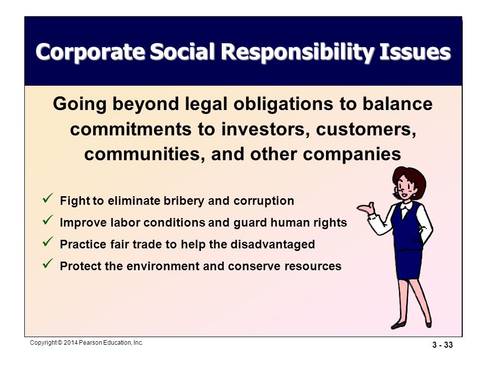 Corporate Social Responsibility Issues