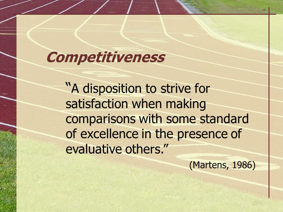 Competitiveness