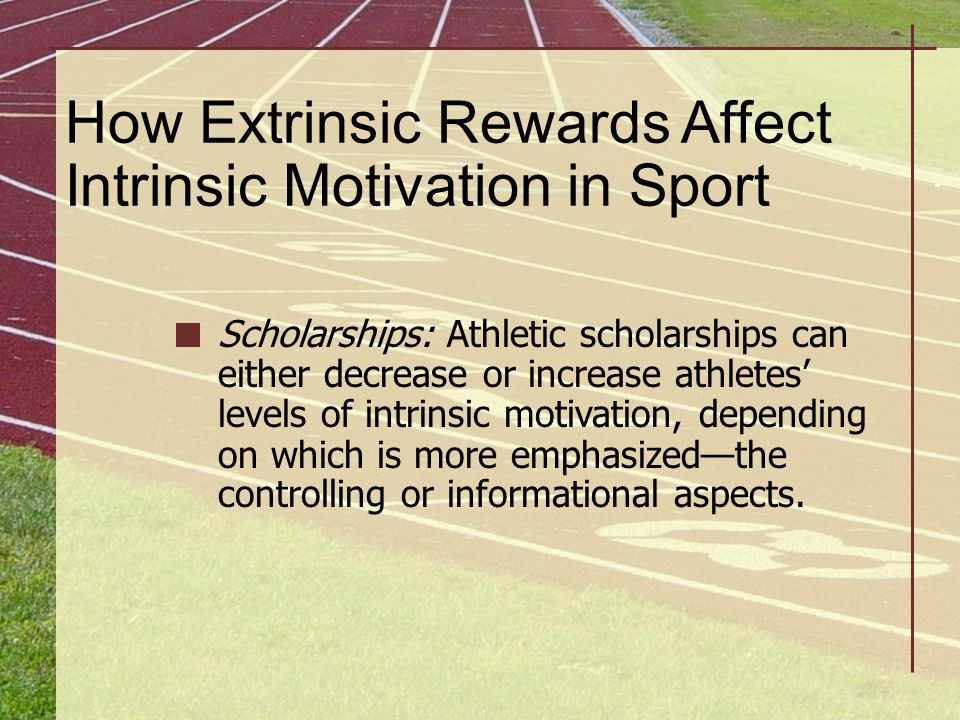 How Extrinsic Rewards Affect Intrinsic Motivation in Sport