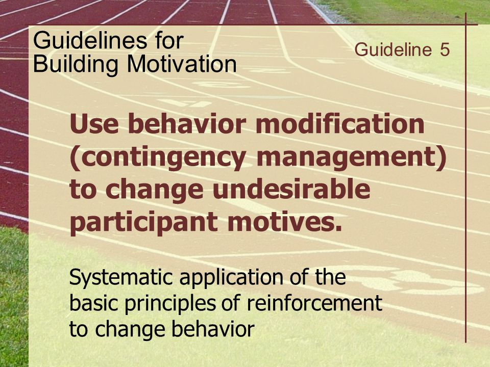 Guidelines for Building Motivation