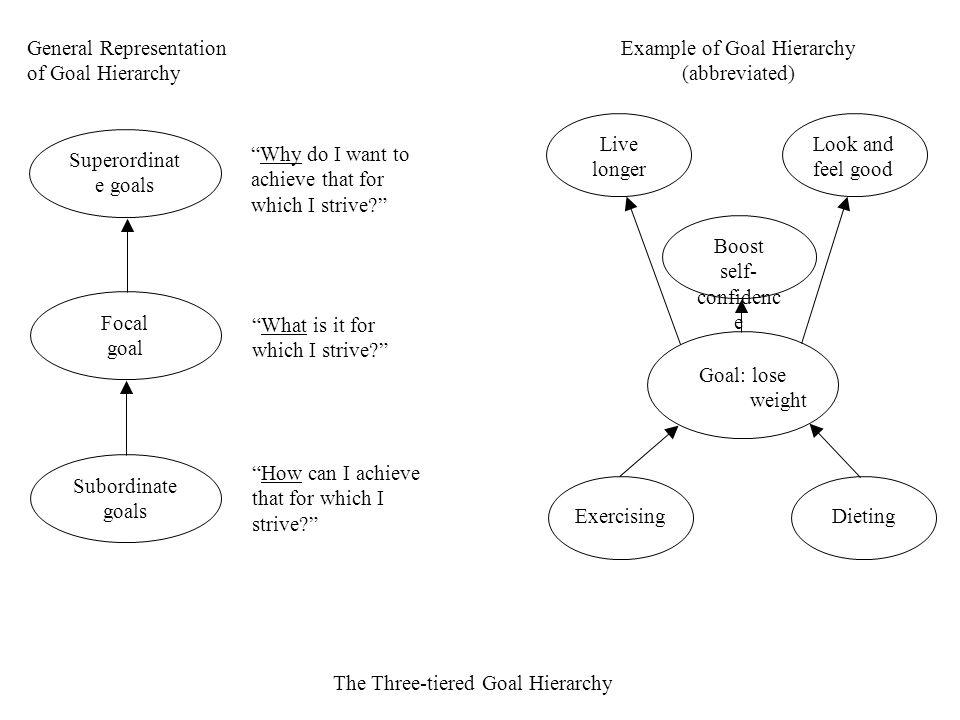 General Representation of Goal Hierarchy