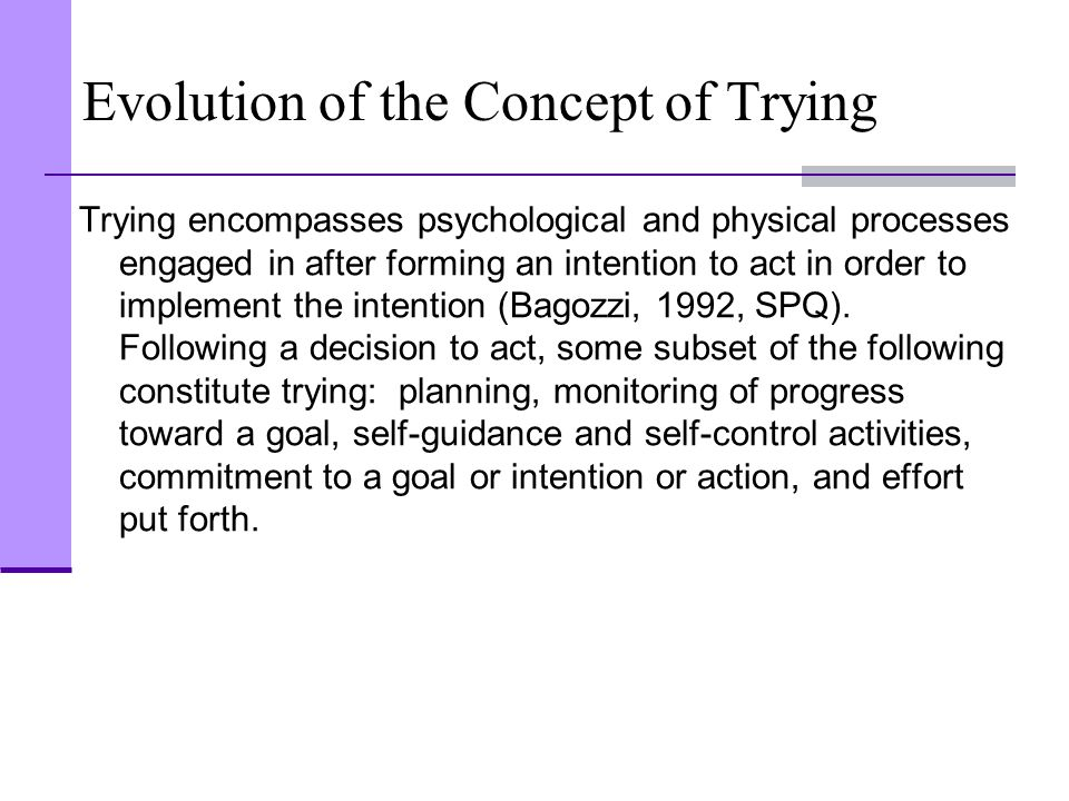 Evolution of the Concept of Trying