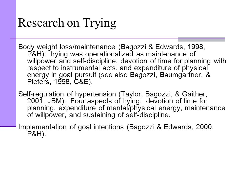 Research on Trying