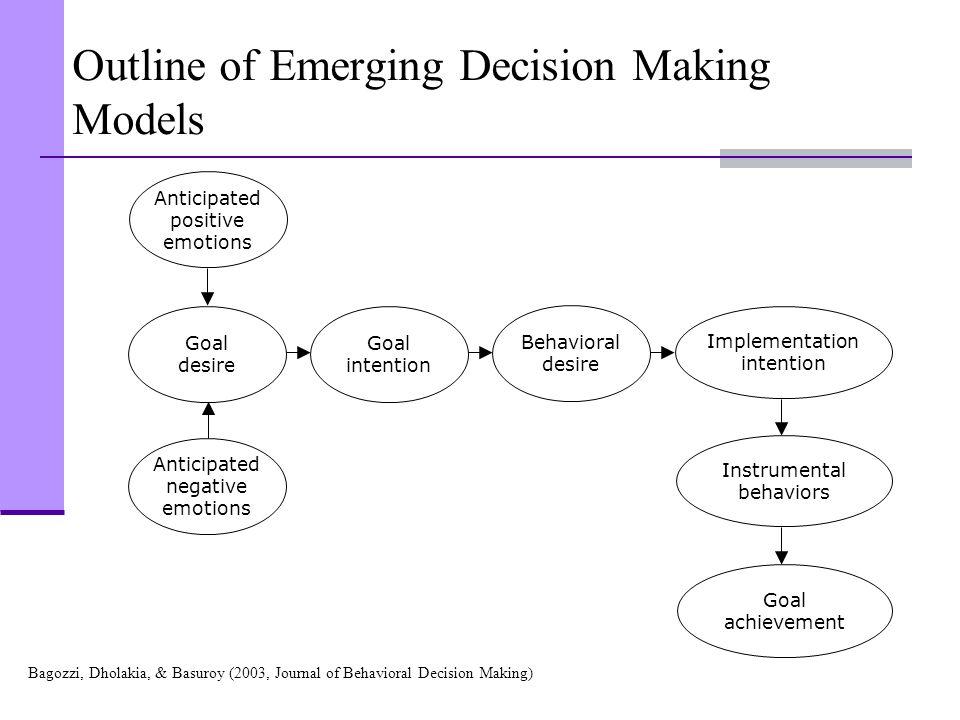 Outline of Emerging Decision Making Models