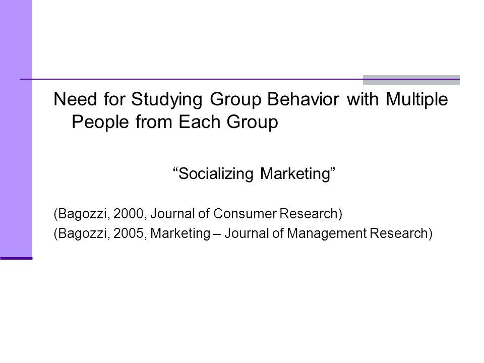 Socializing Marketing