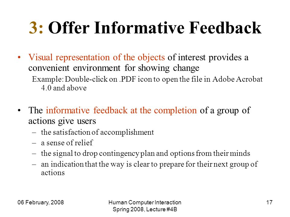 3: Offer Informative Feedback