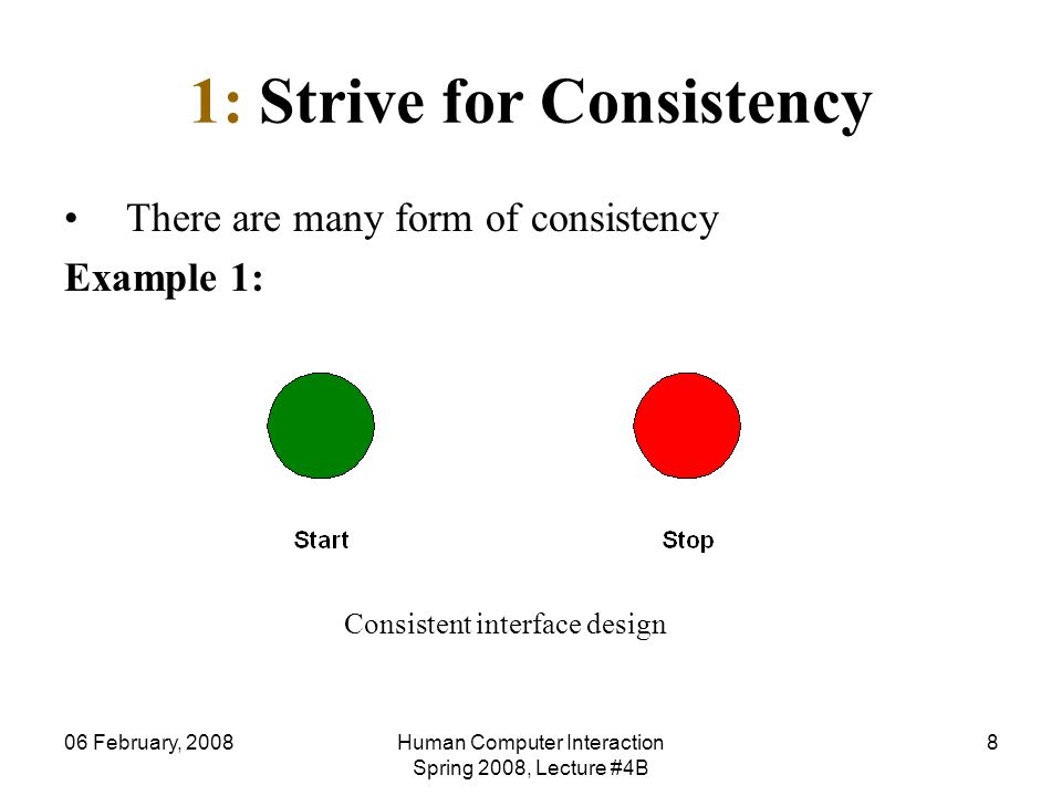 1: Strive for Consistency