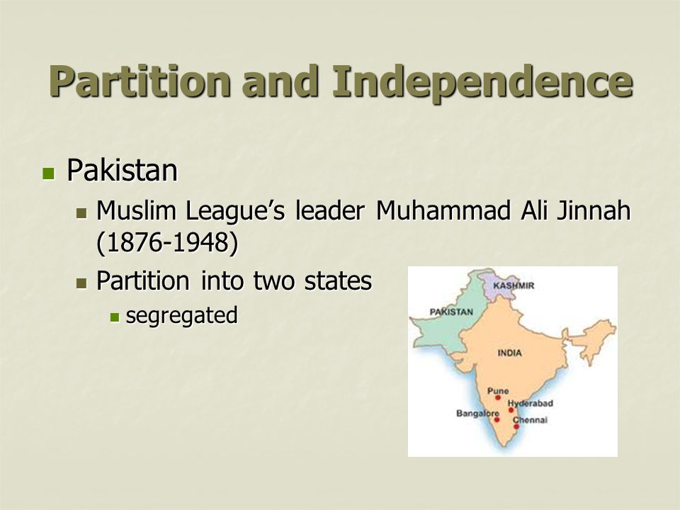 Partition and Independence