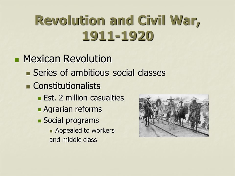 Revolution and Civil War, 1911-1920