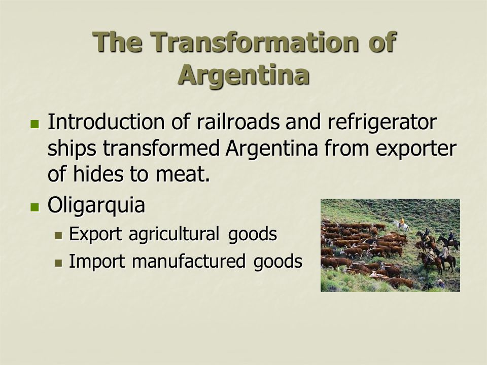 The Transformation of Argentina
