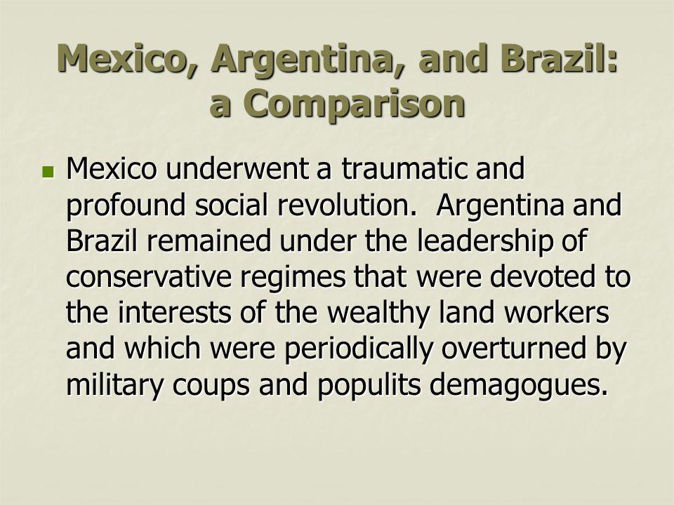 Mexico, Argentina, and Brazil: a Comparison